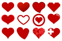 Heart icon. Red heart icons. Love symbol - vector illustration Royalty Free Stock Photo