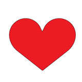 Heart icon. Red shape of the heart vector illustration Royalty Free Stock Photography