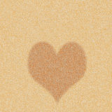Heart icon on sand pattern Stock Image
