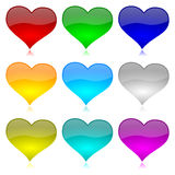 Heart Icon Series Stock Images
