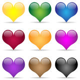 Heart-Icon set Royalty Free Stock Photos