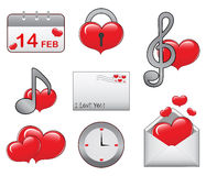 Heart Icon Set Stock Photography