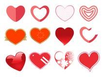 Heart icon set stock image