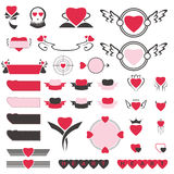 Heart Icon Set Stock Photos