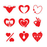 Heart Icon Set. Stock Images