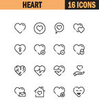 Heart icon set. Heart flat icon set. Collection of high quality outline symbols for web design, mobile app. Heart  thin line icons or logo Royalty Free Stock Images