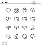 Heart icon set. Heart flat icon set. Collection of high quality outline symbols for web design, mobile app. Heart vector thin line icons or logo Stock Photo