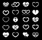 Heart icon set Royalty Free Stock Image