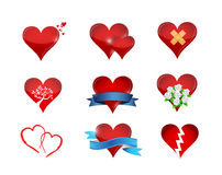 heart icon set illustration design Royalty Free Stock Photography