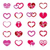Heart icon set Stock Photo