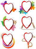 Heart icon set Royalty Free Stock Photos