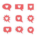 Heart icon set Royalty Free Stock Images