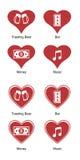 Heart icon set Royalty Free Stock Photos