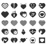 Heart Icon Set Royalty Free Stock Photography