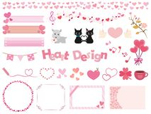 Heart icon set vector illustration