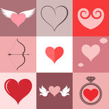 Heart. Icon Set. Valentine's Day Royalty Free Stock Photos