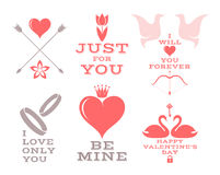 Heart. Icon set for valentine's day and wedding Royalty Free Stock Photos
