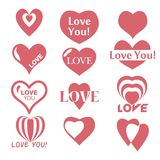Heart icon. Set of Valentines icon Royalty Free Stock Images
