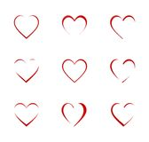 Heart Icon Set. Vector illustration Royalty Free Stock Photography