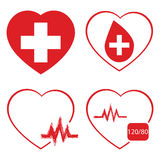 Heart, icon set, vector, medicine icon and vector. Heart, icon set, vector, medicine icon and vector Stock Images