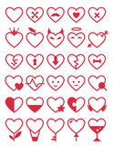 Heart Icon Set. Vector romantic symbols. Linear art Stock Photography