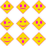 Face icon. A simple face icon Royalty Free Stock Images