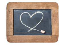 Heart icon on slate Royalty Free Stock Images