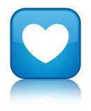 Heart icon special cyan blue square button Royalty Free Stock Photography