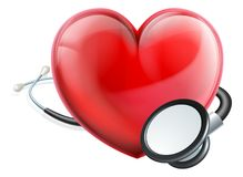 Heart Icon and Stethoscope Concept stock illustration
