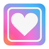 Heart Icon in trendy color. Stock Image