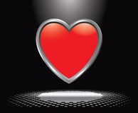 Heart icon under spotlight Royalty Free Stock Image
