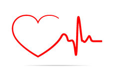 Heart icon. Vector illustration. Royalty Free Stock Image