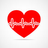 Heart icon. Vector illustration. Royalty Free Stock Photos