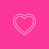 Heart Icon Vector. on Pink  background.  Royalty Free Stock Image