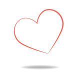 Heart Icon Vector. Royalty Free Stock Image