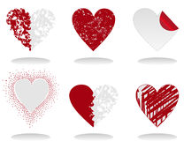 Heart icon6. Set of icons of red hearts. A  illustration Stock Images