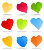 Heart icon9 Royalty Free Stock Photos