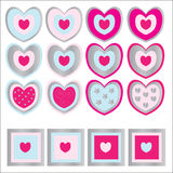 Heart Icons Royalty Free Stock Photo