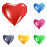 Heart Icons. Illustration on white background Royalty Free Stock Photo