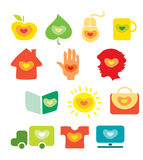 Heart icons. Some ideas how to use heart shape royalty free illustration