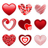 Heart icons. A vector illustration of different heart icons Royalty Free Stock Photography