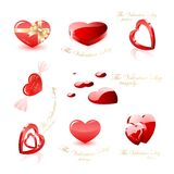 Heart icons collection. Collection of glossy heart icons Stock Images