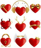 Heart icons collection. Vector illustration. EPS 10. Elements for design isolated on white background Vector Illustration