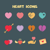 Heart icons Stock Photos