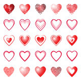 Heart icons. Design elements. Royalty Free Stock Photo