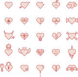 Heart icons. Different illustrations of heart icons on a white background royalty free illustration