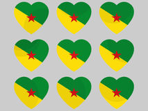Heart icons with the flag of Suriname. I Love Suriname. Vector. Illustration Royalty Free Stock Photography