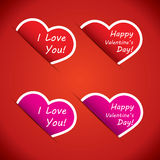 Heart icons - I love your and Happy Valentines Day Stock Photos