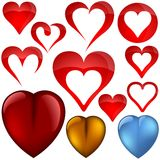 Heart icons II Stock Images