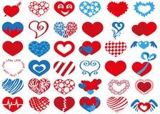 Heart icons royalty free illustration